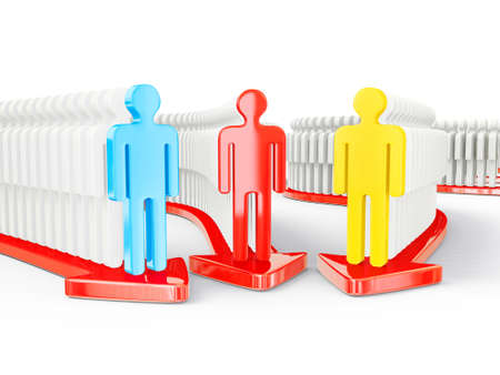 3d peoples isolated on a white background photo