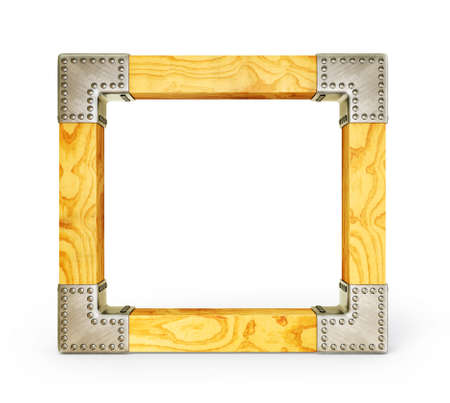 wooden frame isolated on a white background Stock Photo - 15300520