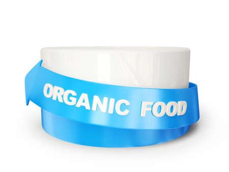 organic food podium isolated on a white background Stock Photo - 15299861