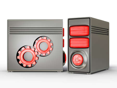 decoratiion: 3d computer isolated on a white background Stock Photo