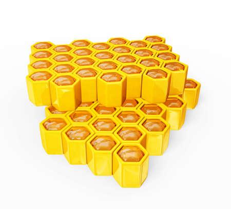 fresh honeycomb isolated on a white background photo