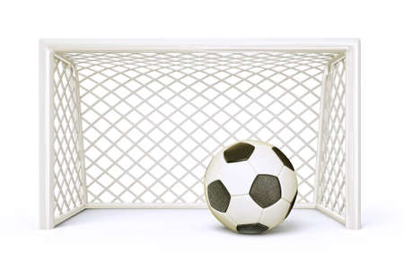 soccer stadium: soccer goal isolated on a white background
