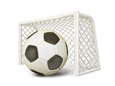 decoratiion: soccer goal isolated on a white background