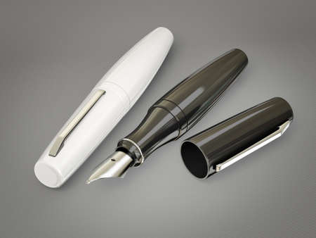 decoratiion: modern pen isolated on a grey  background