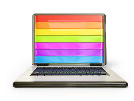 slim laptop isolated on a white background Stock Photo - 15824166