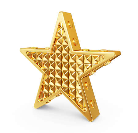 gold star isolated on a white background photo