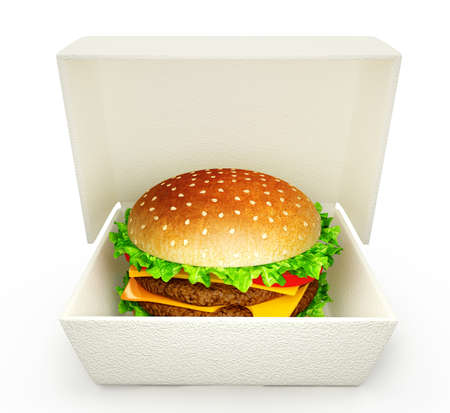 big tasty hamburger isolated on a white background photo
