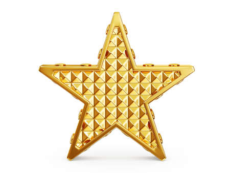 gold star isolated on a white background Stock Photo - 16283391