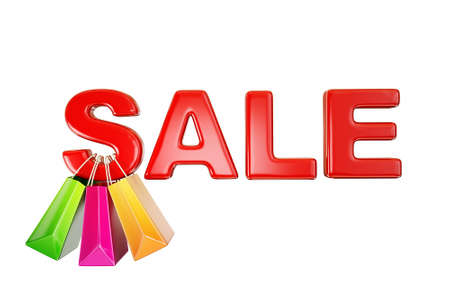 discount banner: concept sale iscription isolated on a white Stock Photo