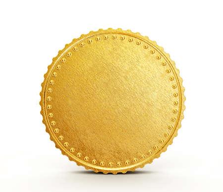 Gold coin: xu khái niệm cô lập trên nền trắng