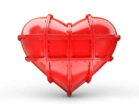 red conceptual heart isolated on a white Stock Photo - 16481854