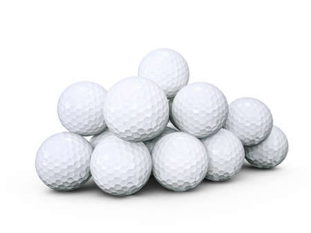 golf balls isolated on a white background photo