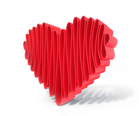 red heart isolated on a white background Stock Photo - 17389751
