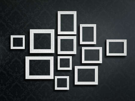 vintage frames isolated on a black background Stock Photo - 17422995