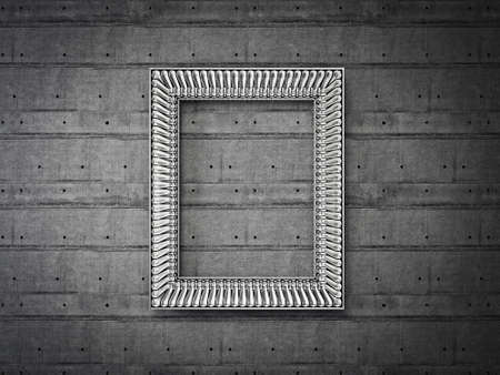vintage frame isolated on a light background Stock Photo - 17423001
