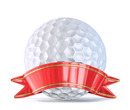 strip club: golf ball with ribbon isolated on a white background