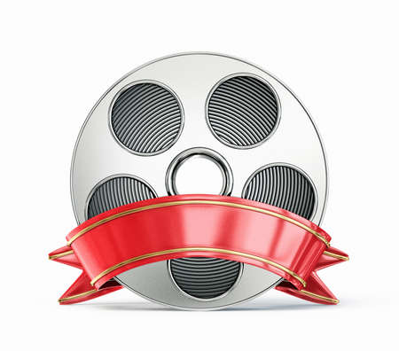 video film: film reel isolated on a white background