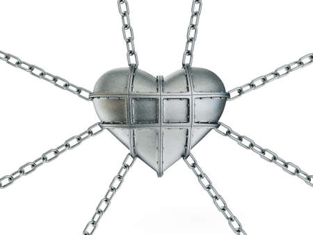 heart in chain isolated on a white background Stock Photo - 17727502