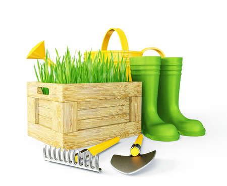 gardening tools: gardening tools isolated on a white background