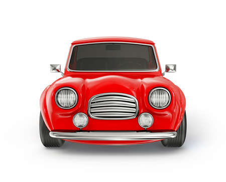 red car isolated on a white background Reklamní fotografie