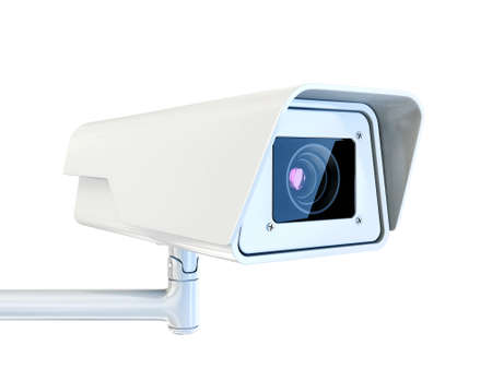 cctv camera: security camera isolated on a white background Stock Photo