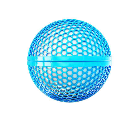 3d sphere isolated on a white background photo