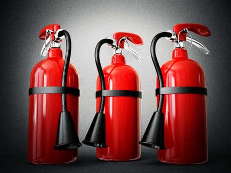bombero de rojo: extintor de incendios aislados en un fondo blanco