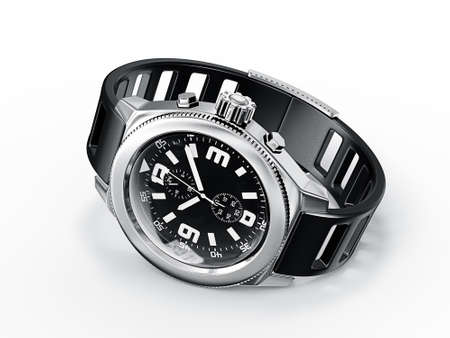wrist watch: modern watch isolated on a white background