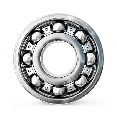 friction: Ball bearing isolated on a white background Stock Photo