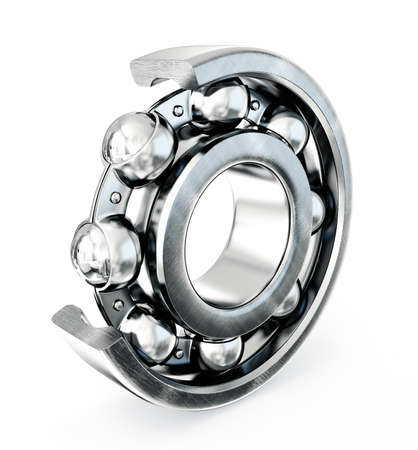 Ball bearing isolated on a white background photo