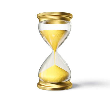 sand clock: Clessidra 3d isolato su uno sfondo bianco Archivio Fotografico