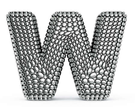 steel letter isolated on a white background Stock Photo - 20036718