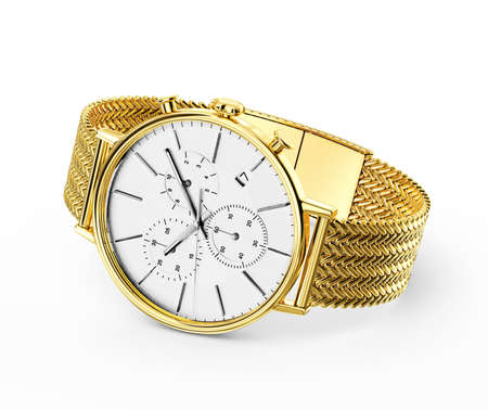 wristwatch: wintage  watch mechanism. 3d in hight resolution