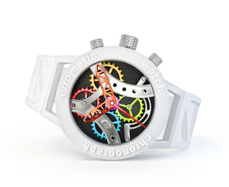 expensive: modern watch isolated on a white background