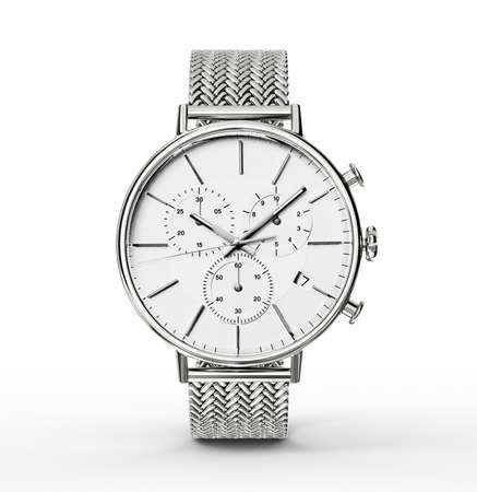 wristlet: modern watch isolated on a white background