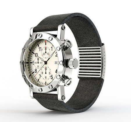 classy background: modern watch isolated on a white background