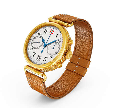 classic watch isolated on a white background photo