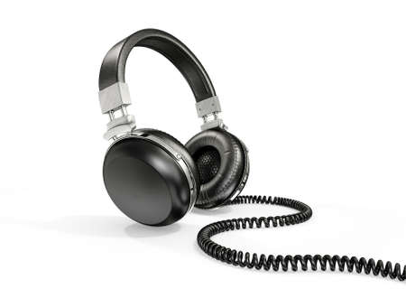 modern headphones isolated on a white background Stock Photo