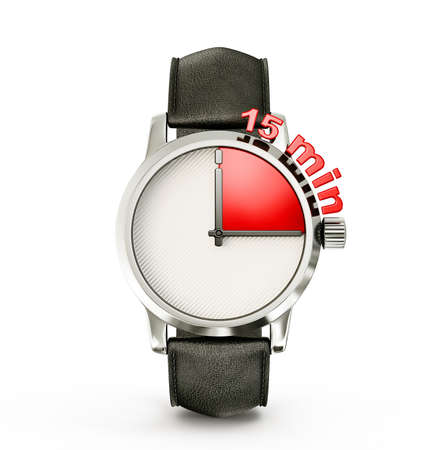 min: conceptual watch isolated on a white background