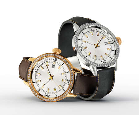watch: pair watch isolated on a white background