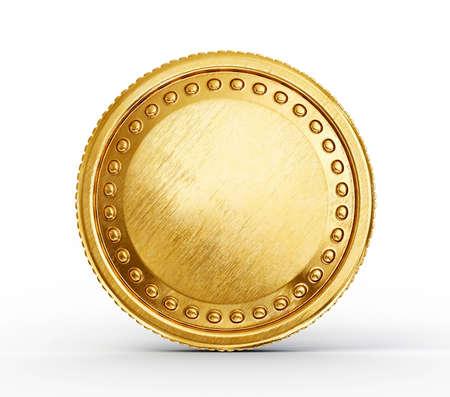 Pi?ce d'or isol? sur un fond blanc Banque d'images - 21583801