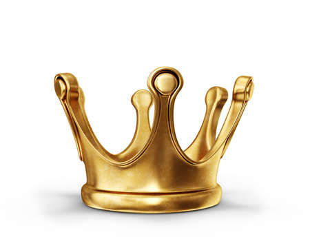 crown king: gold crown isolated on a white background Stock Photo