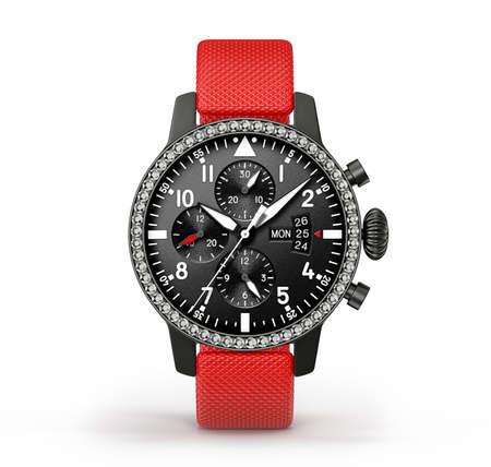 moderne horloge geïsoleerd op een witte achtergrond