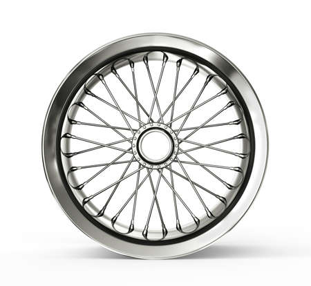 spoked: spoked rim isolated on a white background