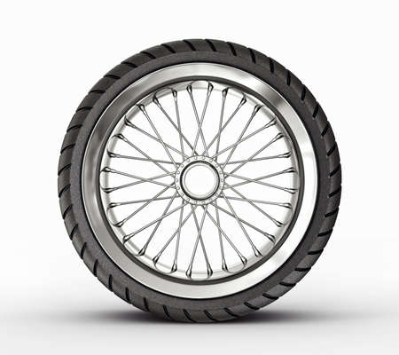 spoke: retro rim isolated on a white background