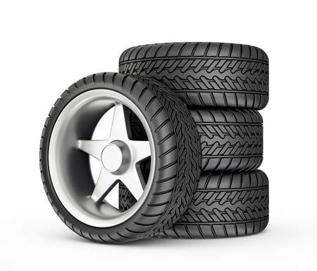modern wheels isolated on a white background photo