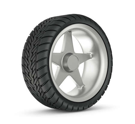modern wheel isolated on a white background photo