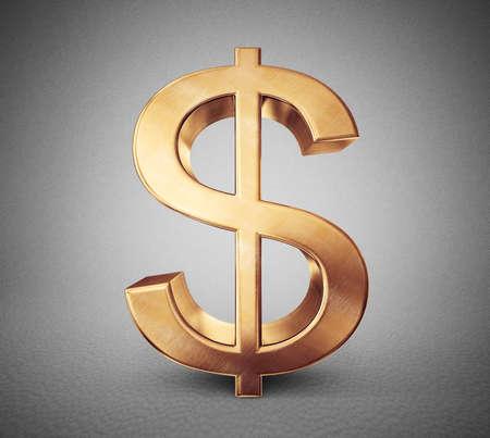 valuta: valutajelzés elszigetelt szürke háttér Stock fotó