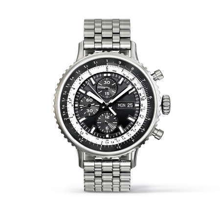 watch: modern watch isolated on a white background