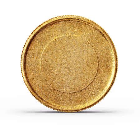 白い背景で隔離の金貨 写真素材